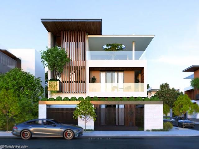 Model 3d biệt thự phố hiện đại mới nhất 2020