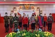 Bupati Sanggau ikuti Upacara Hari Lahir Pancasila Secara Virtual