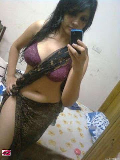 Hot Desi Young Girl in Bra and Skirt