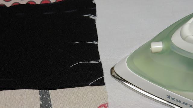 Plancha sobre la costura realizada