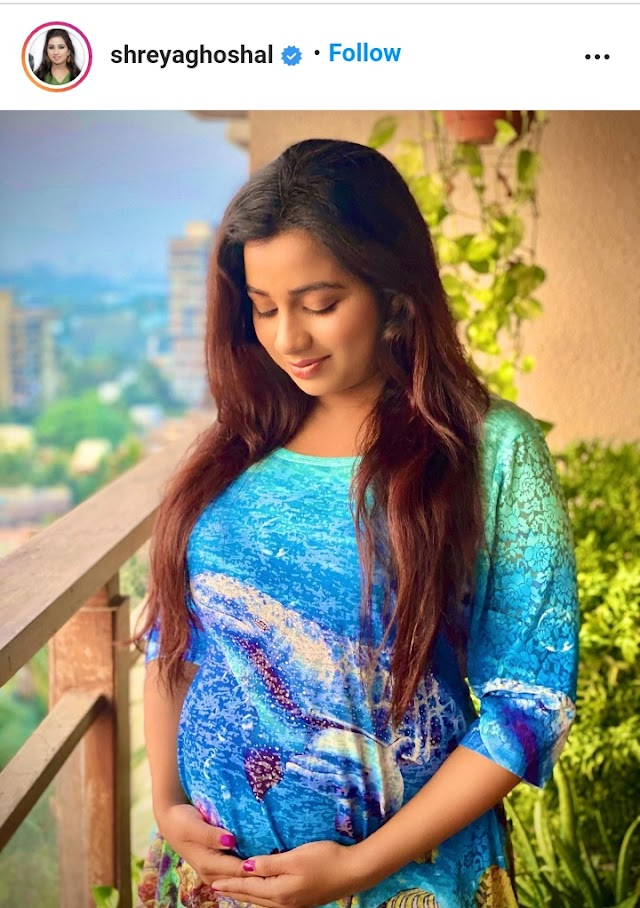 Singer Shreya Ghoshal ,announcing their first Pregnancy, Posted that on social media.