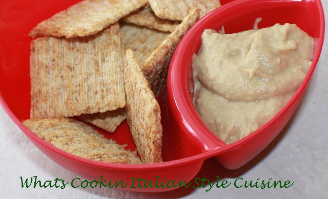 this is hummus made with mashed eggplant