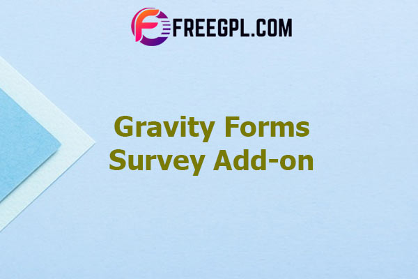Gravity Forms Survey Add-on Nulled Download Free