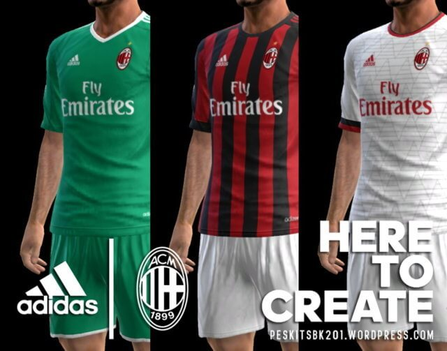 AC Milan 2017-2018 Kit PES 2013
