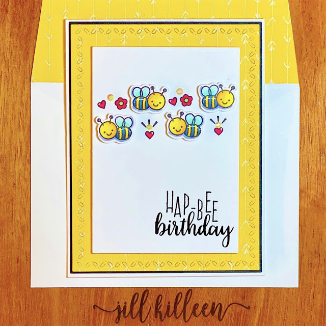 Sunny Studio Stamps: Just Bee-cause Customer Card by Jill Killeen