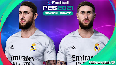 PES 2021 Faces Sergio Ramos by Rachmad ABs