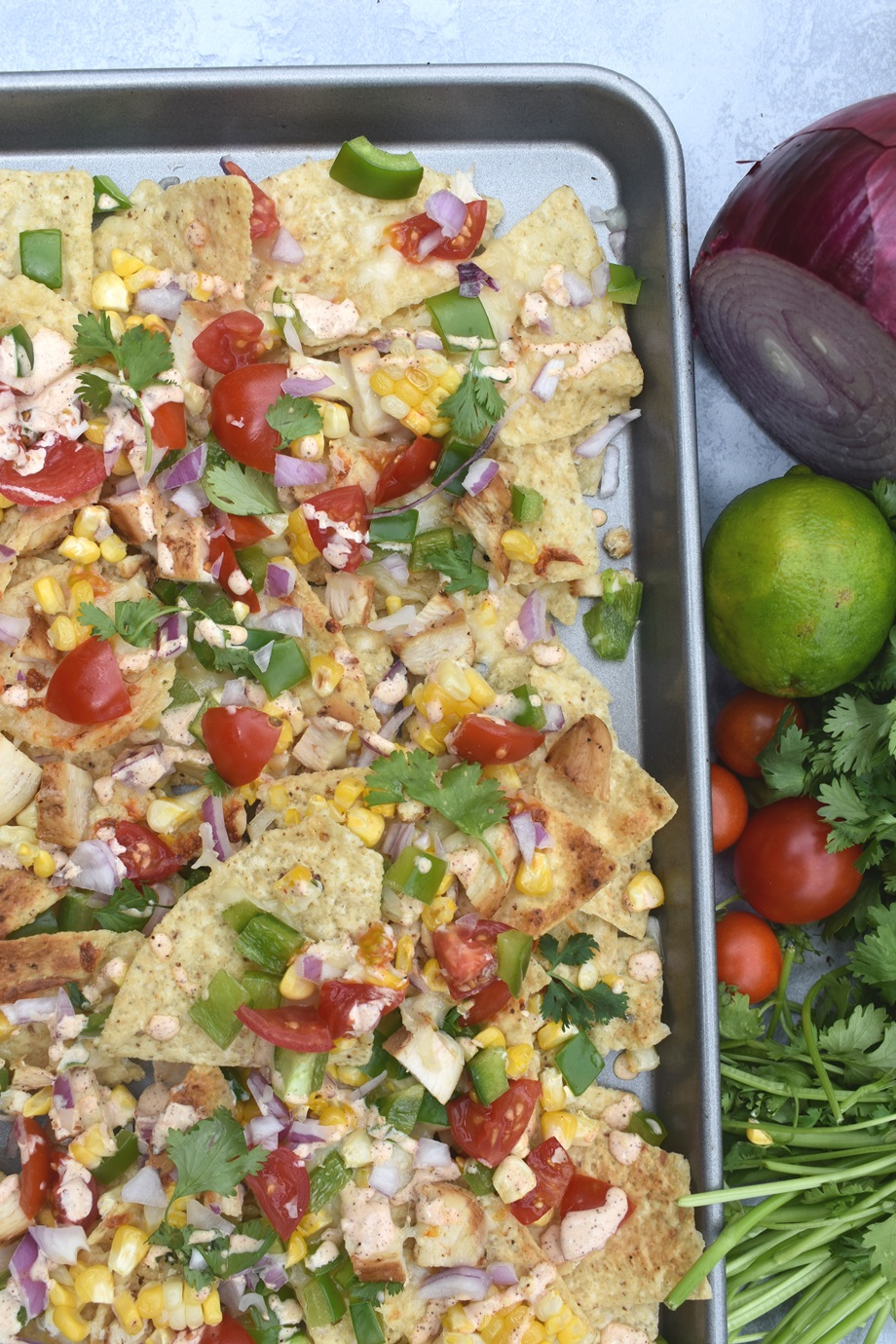 Loaded Mexican Street Corn Nachos
