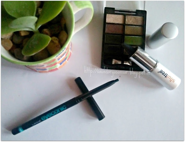 Lakme Eyeconic Green and Soultree Khol In Grey Glow Review, Eye Makeup