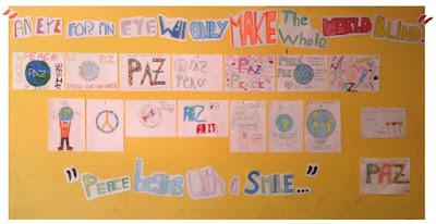 """""""Día escolar de la no-violencia y la paz"""" 6B"""