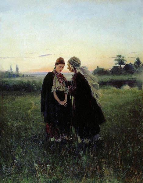 Маковский Владимир Егорович - Мать и дочь. 1886