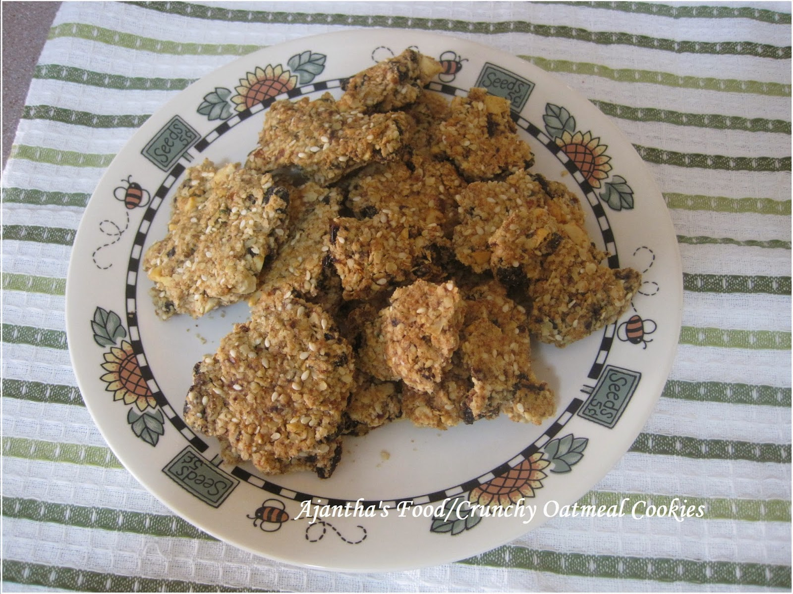 Ajantha's Food/Oatmeal Crunchy Cookies