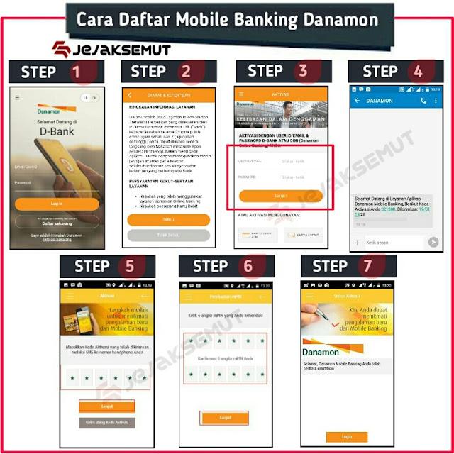cara daftar mobile banking danamon