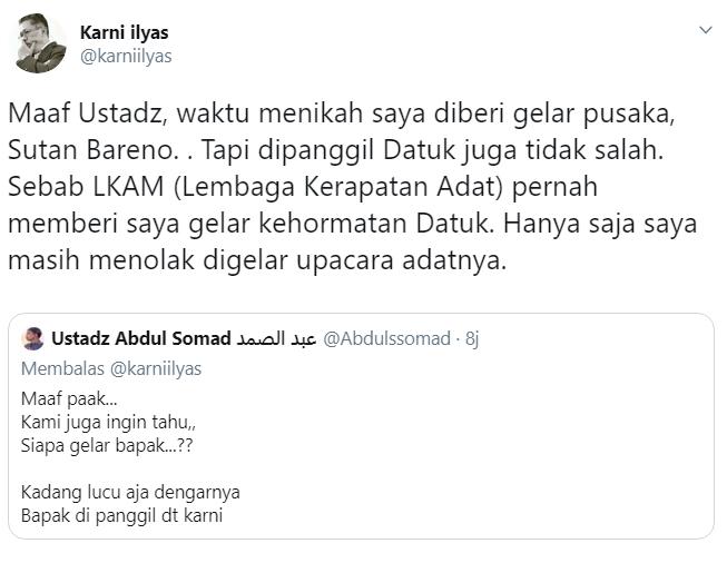 akun palsu Ustadz Abdul Somad di twitter