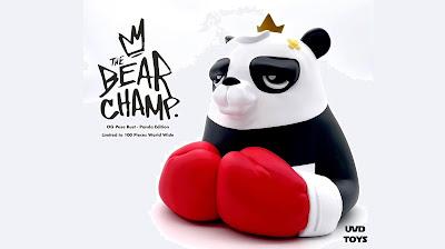 The Bear Champ OG Pose Panda Edition Vinyl Bust by JC Rivera x UVD Toys