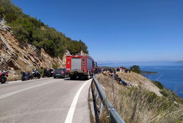 Αργολίδα: Μηχανή έπεσε σε γκρεμό στην περιοχή της Επιδαύρου - Τραυματίας ο οδηγός