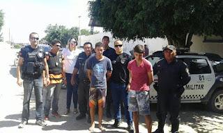 Presos acusados de desmanches de motos em Jaçanã são trazidos para Cuité
