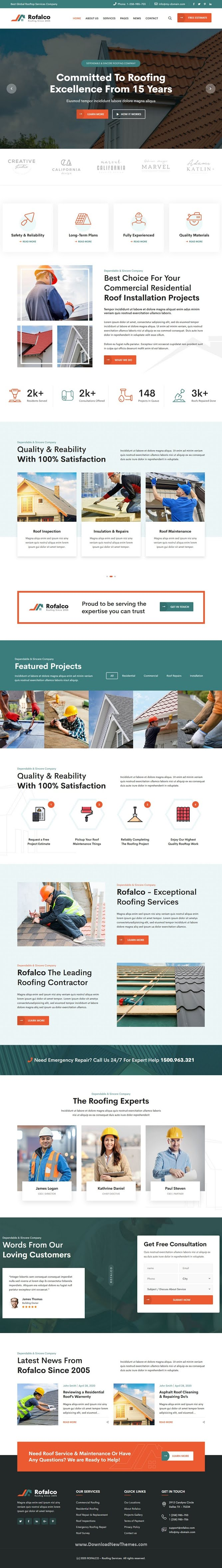 Roofing Services HTML Template