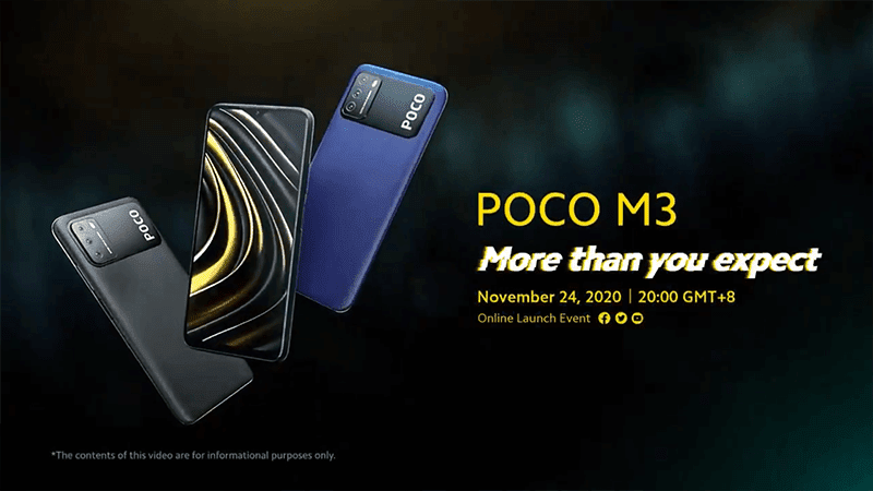 POCO shares M3 design and key specs ahead of launch