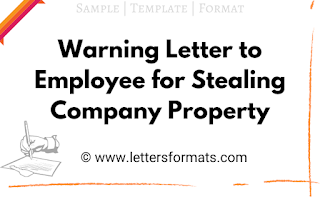 warning letter for theft of company property