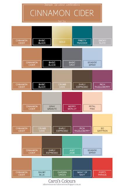 Cinnamon Cider colour combinations Part One