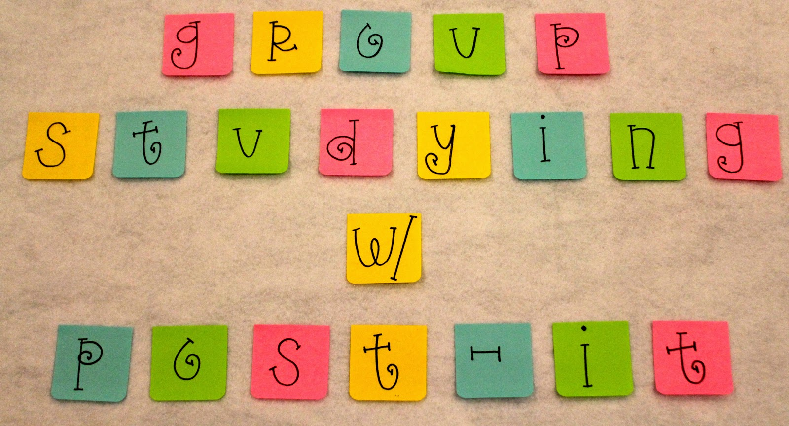monogrammed post it notes