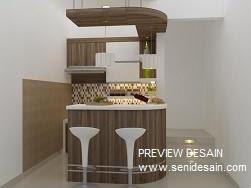 Jasa Design Pantry Lengkung Minibar Cantik