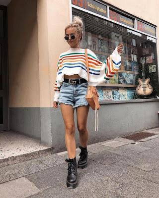 Outfits coquetos con BAGGY SHORTS que debes probar