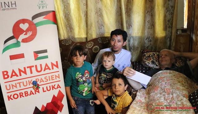FPI Beri Bantuan Untuk Para Korban Luka Tembak Di Gaza