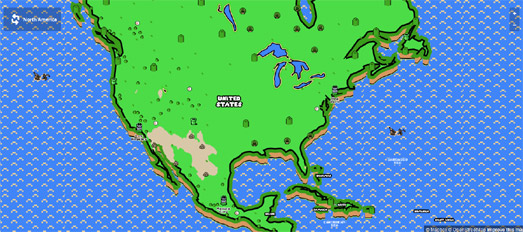 Maps mania 8 bit maps of the world game world map of your own neighborhood the 8 bit map maker also includes an option to download the created 8 bit map of your location as a tiled map gumiabroncs Images