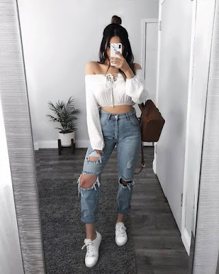 Outfit casual con jeans