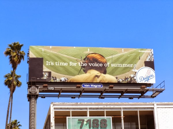 Dodgers voice of summer billboard