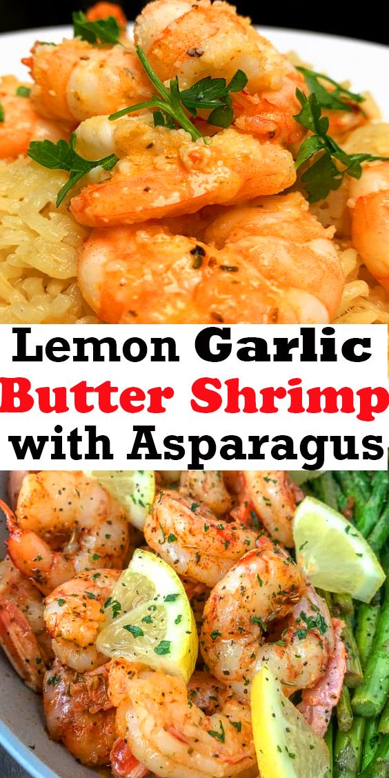 Lemon Garlic Butter Shrimp with Asparagus #Lemon #Garlic #Butter #Shrimp #with #Asparagus