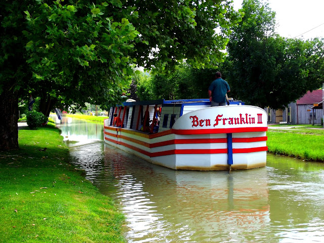 Canal Boat - Ben Franklin - Whitewater Canal Indiana State Historic Site