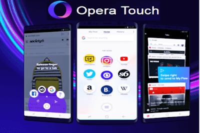 متصفح أوبرا Opera Touch  الجديد للاندرويد والايفون