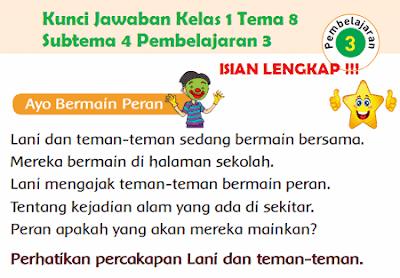 Kunci Jawaban Buku Tematik Siswa Kelas 1 Tema 8 Subtema 4 Pembelajaran 3 Halaman 176, Halaman 177, Halaman 179, www.simplenews.me
