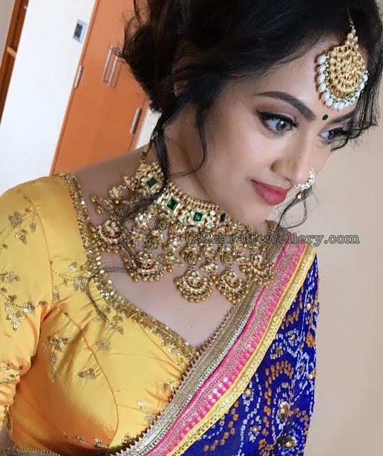 Meena Antique Kundan Choker