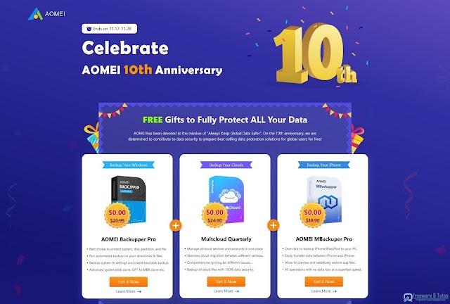 Offre promotionnelle : AOMEI Backupper Pro gratuit !