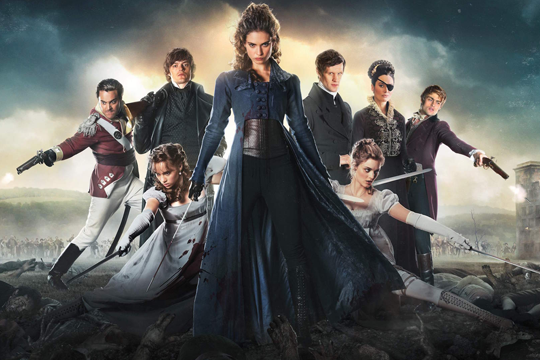 Elizabeth Bennet (Lily James) y otros protagonistas de Orgullo y prejuicio y zombis - Cine de Escritor