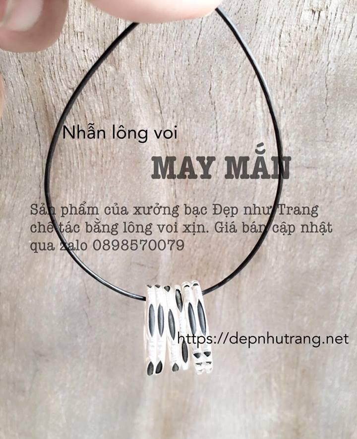 Các mẫu nhẫn lông voi bằng bạc xịn và đẹp nhất nên mua nhé