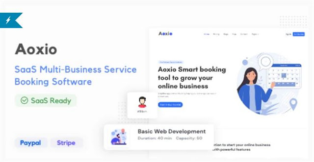 Aoxio - SaaS Multi-Business Service Booking Software [PHP Script]