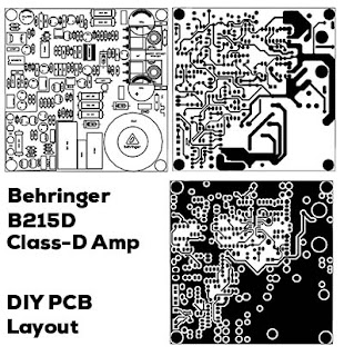 Power Amplifier Class-D Behringer B215D PCB Layout