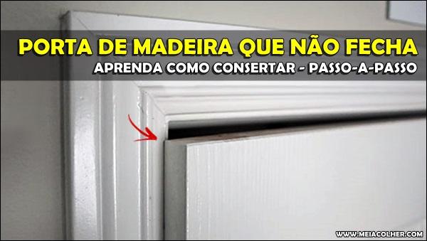 porta que bate e não fecha