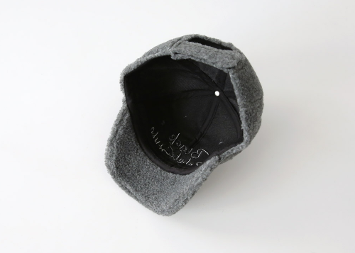 Embroidered Lettering Fleece Baseball Cap