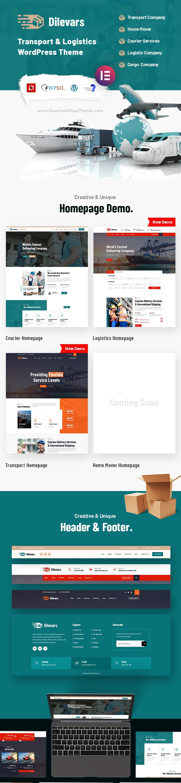 Transportation and Logistics Company Website Theme