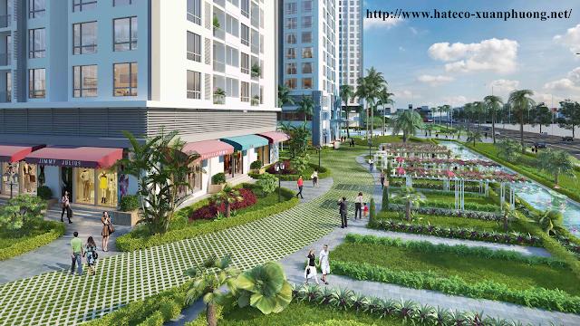 Không gian xanh quanh dự án Xuân Phương Hateco