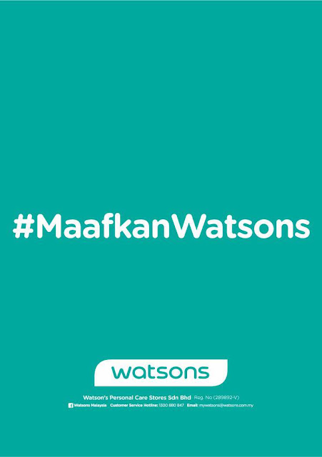 WATSONS 'LEGENDA CUN RAYA' VIDEO - APOLOGY STATEMENT, Lagenda Cun Raya by Watsons, watsons malaysia,