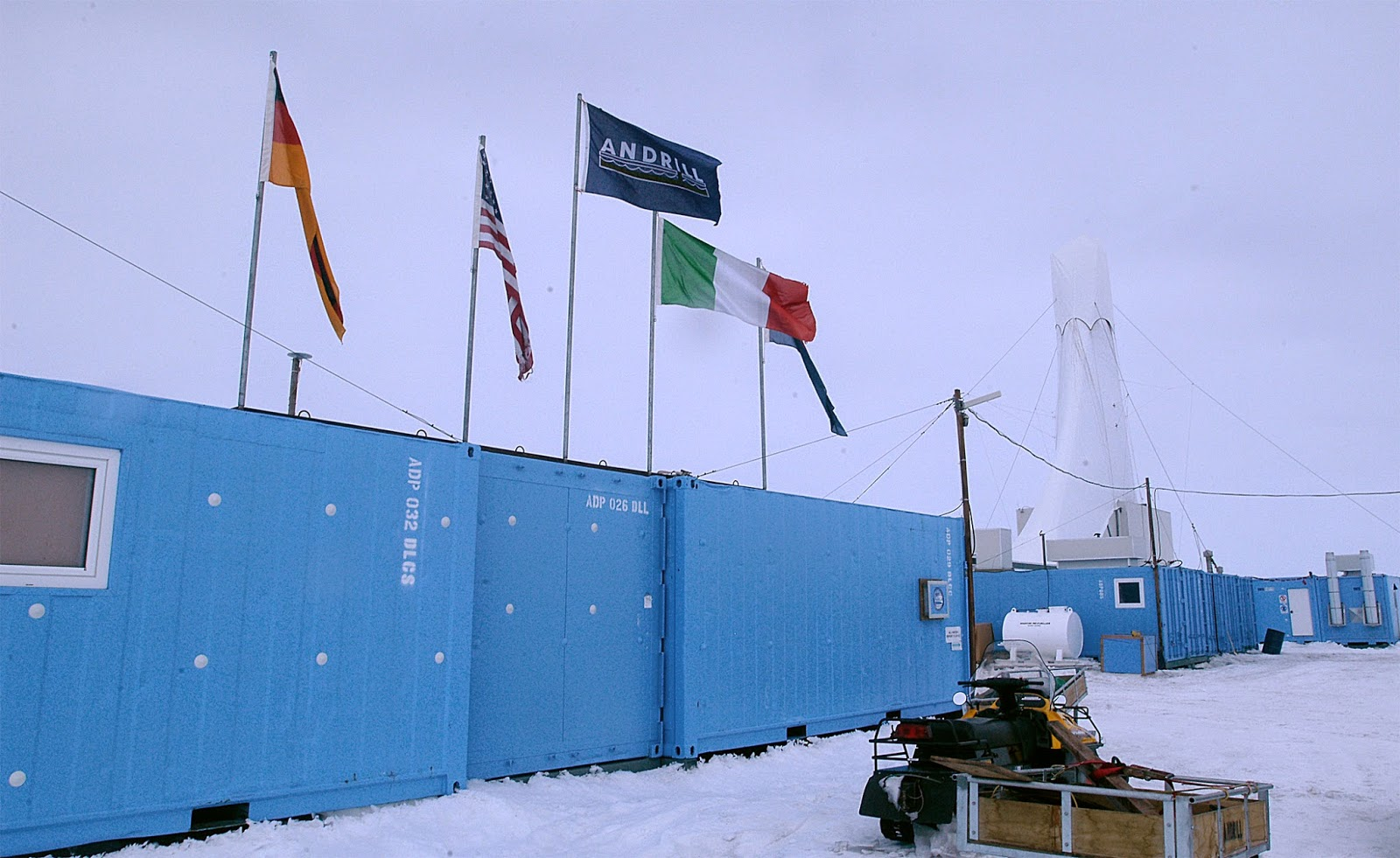 photo of the andrill drilling area