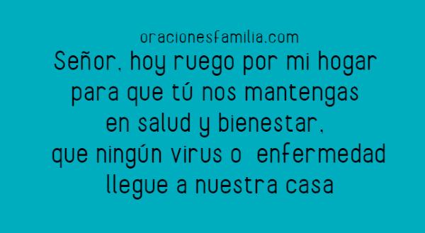 imagen oracion para proteccion de enfermedad o virus en la familia