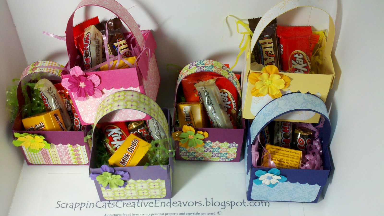 Welcome to Scrappin' Cat's Creative Endeavors: Easter baskets