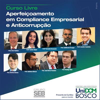 Curso de Extensão em Aperfeiçoamento do Compliance Empresarial e Anticorrupção - 200 horas com Certificação